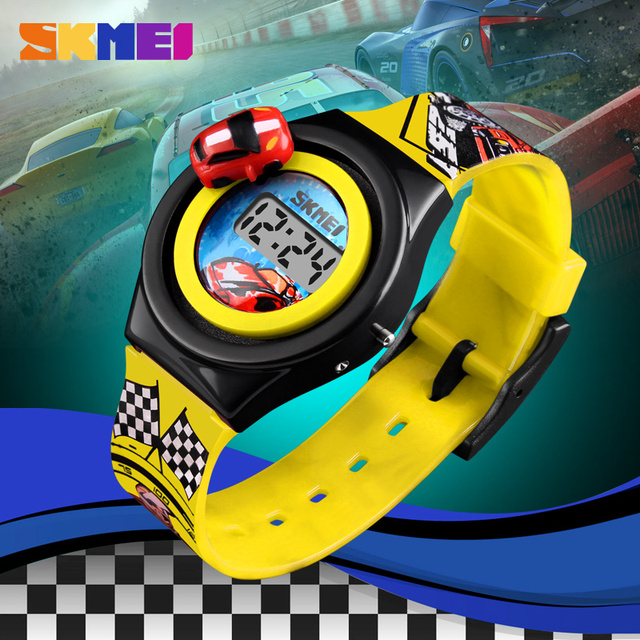 SKMEI 1376 Child Watchs Kids Watch Creative Cartoon Car Children Watches For Boy