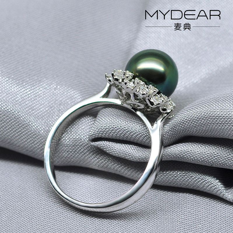 MYDEAR women jewelry women AAA freshwater fashion silver pearl ring designs for women ...