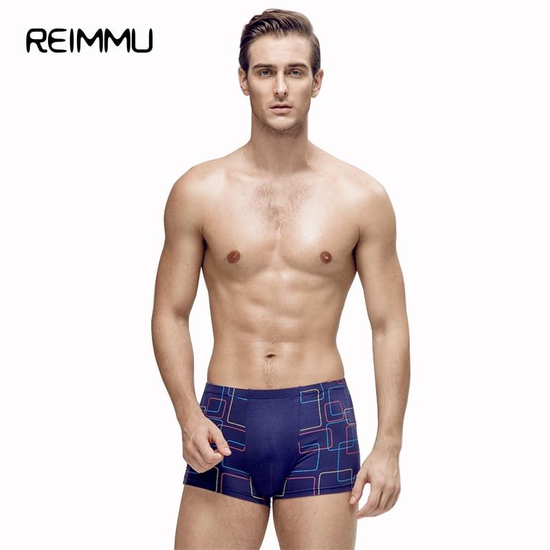 Reimmu 2018 New Arrival 7XL Men Underwear High Quality Mens Underwear Boxers Famous Brand Male Panties Great Underwear Hot Sale