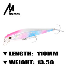 Meredith Lures Fishing 1pcs 13.5g 110mm Floating Minnow Fishing Hard Artigicial Bait Dream Maker wobblers Hooks  Carp Fishing