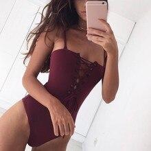 Женщины Сексуальная Тощий Ремень Выдалбливают Бинты Комбинезон Спинки Боди Женская Одежда