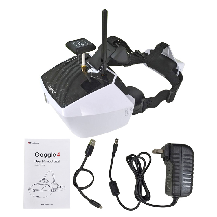 Walkera Goggle 4 Fpv Video Glasses 5.8G 40CH with 5HD Large Screen racing drone aerial 3D Glasses for FPV Drone with Camera original walkera devo f12e fpv 12ch rc transimitter 5 8g 32ch telemetry with lcd screen for walkera tali h500 muticopter drone