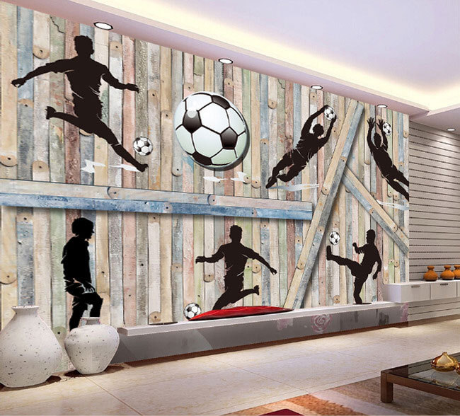 3d wood man football background 3D wallpaper murals living room bedroom study paper 3D wallpaper european church square ceiling frescoes murals living room bedroom study paper 3d wallpaper