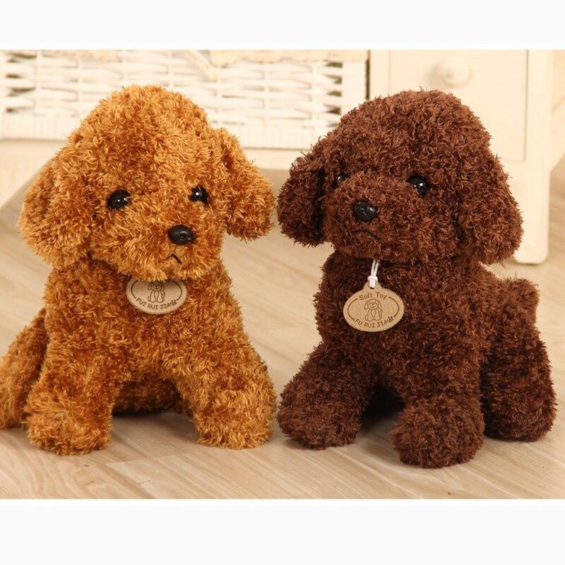 18/25 cm Simulation Dog Poodle Plush Toys