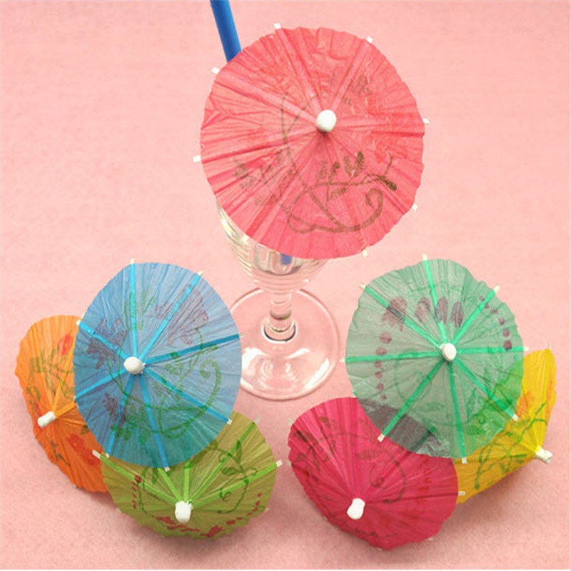 10pcs Creative Mini Umbrella Cupcake Baby Shower Colorful Umbrella Decoration DIY Birthday Cake Baking Wedding Gift & Favor S