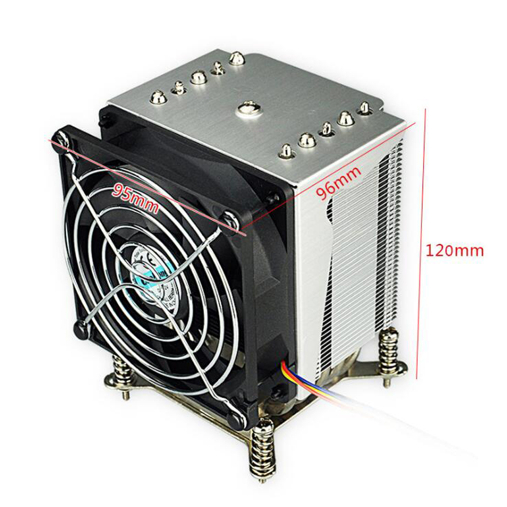 3U 4U Server CPU Cooler Heatsink Radiator For <font><b>Intel</b></font> Xeon Core LGA 1155 1156 1150 1151 Industrial Workstation Computer Cooling image