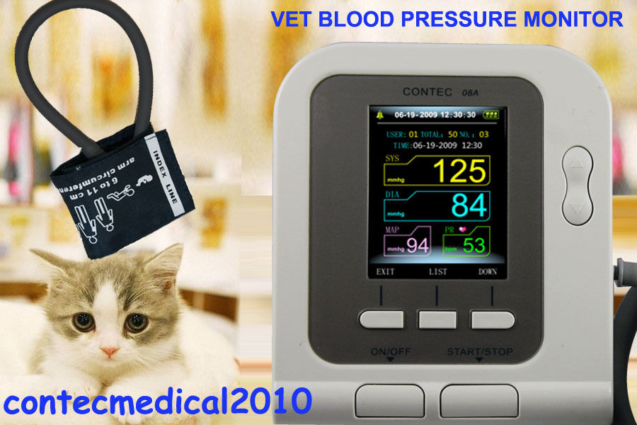CONTECMED Vet Veterinary OLED digital Blood Pressure Heart Beat Monitor NIBP contecmed contec08c with adult spo2 vet blood pressure monitor