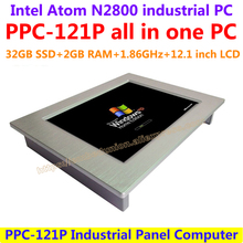 All In One Computer 12.1inch Intel atom N2800 industrial panel pc with resistance touch screen 32G SSD 2G RAM affordable pc