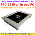 Tudo em um computador de 12.1 polegada intel atom n2800 industrial painel pc com tela de toque da resistência 32G SSD 2G RAM a preços acessíveis pc