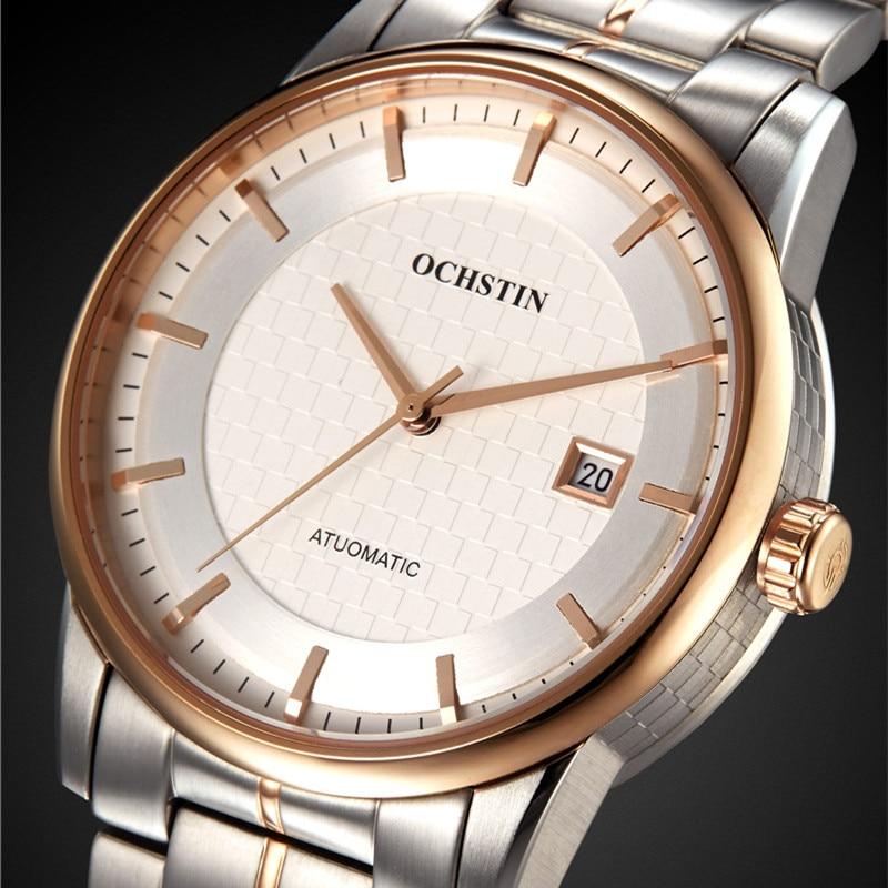 OCHSTIN montre hommes automatique montres-bracelets en acier montres de Sport automatique Date 2016 horloge hommes Relogio Masculino montre d'affaires hommes - 2