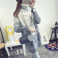 De DoveGirls long section turtleneck sweater thick sweater dress Korean version of the influx of winter hedging thick sweater