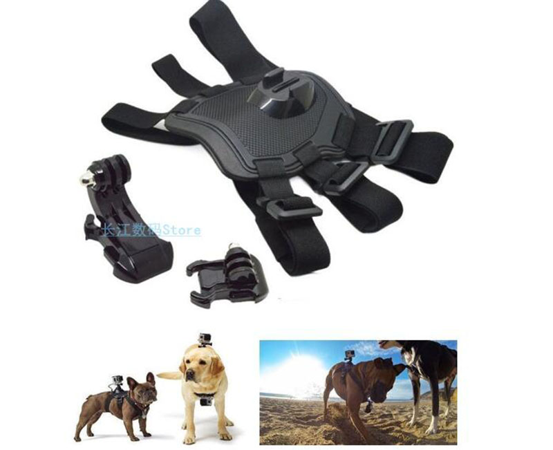 Cão de estimação buscar arnês cinta peito ombro cinto base montagem para gopro hero 5 4 3 sjcam esportes câmera