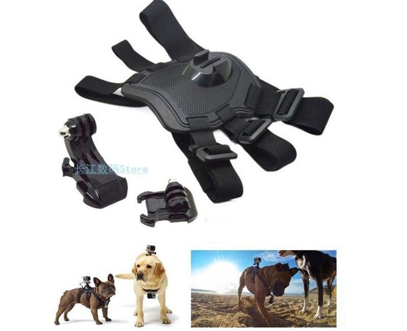 Pet Dog Fetch Harness Chest Strap Shoulder Belt Mount Base For Gopro Hero 5 4 3 SJCAM Sports Camera