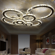 Stainless steel LED Modern Ceiling Lights crystal Lamp for living room dining lamparas de techo avize led lamp