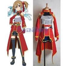 Sword Art Online Silica Shirika Keiko Ayano Cosplay Uniform Suit Women Girls Costumes ALfheim Online Custom