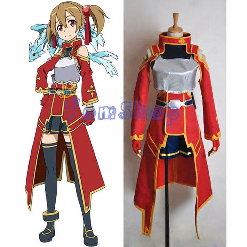 Sword Art Online Silica Shirika Keiko Ayano Cosplay Uniform font b Suit b font font b