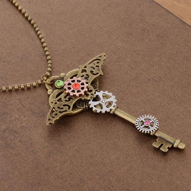 Steampunk Key Necklace – The Brass Bat