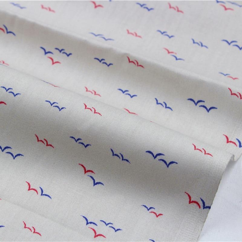 ②16010512,50*150 cm patrón Gaviota serie tela de algodón, hogar de ...