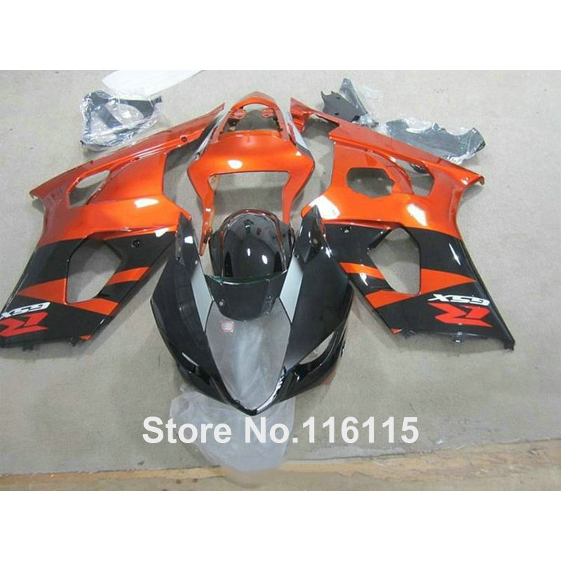 Injection molding fairing kit fit for SUZUKI GSXR1000 K3 K4 03 04 copper black ABS fairings set GSXR 1000 2003 2004 HX94 100% fit for suzuki injection molding gsxr1000 fairing kit k3 k4 2003 2004 brown black fairings set gsxr 1000 03 04 ap34