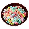 Dulces Colores mezclados Accesorios de Flores Con Cuentas de Acrílico 50 unids/lote Decoraciones de La Boda Del Grano Del Agujero De Plástico Para Kid Joyería de DIY Que Hace