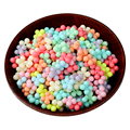 Mixed Candy Colors Accessories Flowers Acrylic Beaded 50pcs/Lot Wedding Decorations Plastic Hole Bead For Kid DIY Jewelry Making