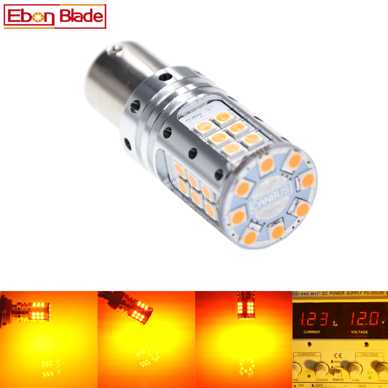 2Pcs 1156PY PY21W LED Amber No Error Turn Signal light BAU15S 7507 Orange Yellow 3030 LED Canbus No Hyper Flashing Bulb 12V 24V led canbus no error bau15s 7507 py21w bulb 2pcs 50w decoders for car turn signal lights amber yellow 12v 2 pieces saarmat