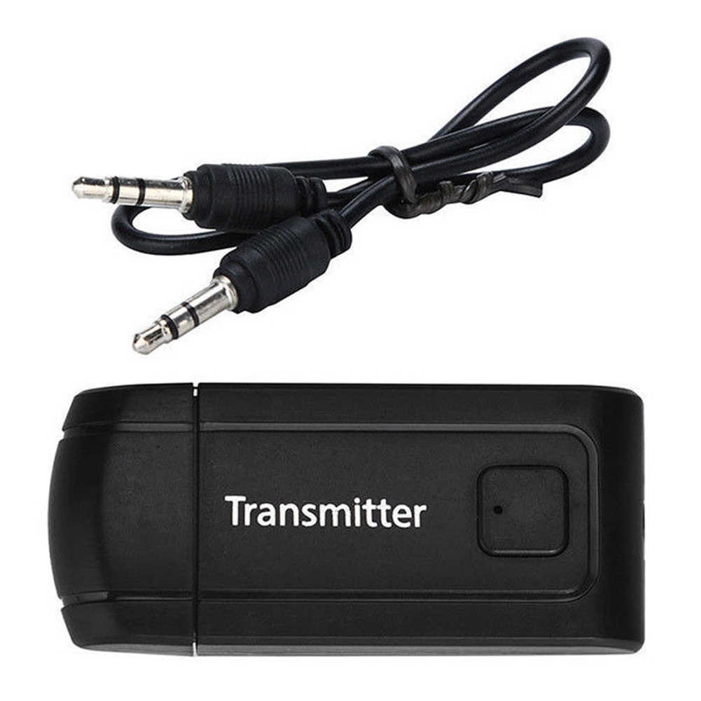 4.2 Adapter Dongle Receiver Bluetooth Transmitter untuk TV PC Komputer Portabel Nirkabel Headphone Stereo USB Speaker Audio 3.5 Mm