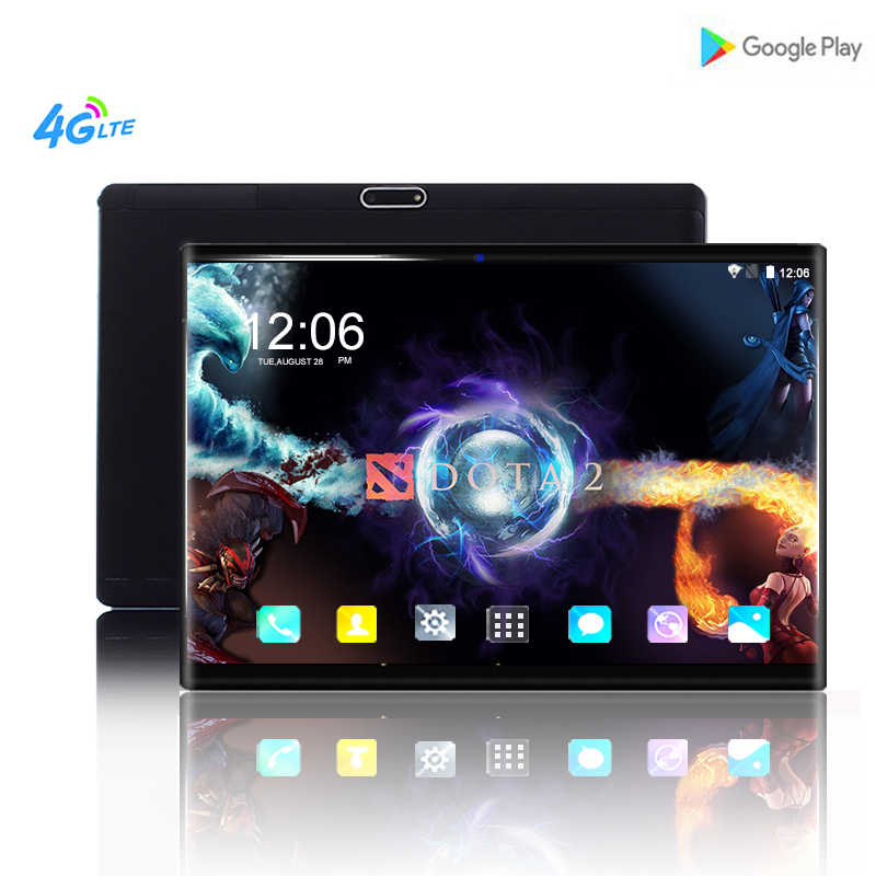 10 Inti 10 Inci Tablet PC Android 8.0 Ram 6 GB ROM 64 GB 1920*1200 IPS 2.5D Tempered layar Dual SIM Kartu Wifi Tablet 10.1 + Hadiah