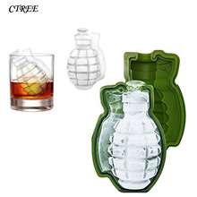 CTREE 3D bomb Shape Ice Cube Mold DIY Cream Maker Party Drinks Silicone Trays Molds Kitchen Bar Tools Baking C307