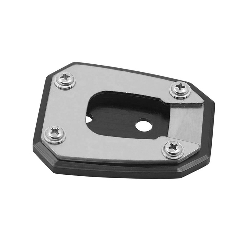 Motorcycle bracket Motorcycle Side Stand Pad Plate Kickstand Enlarger Support Extension for Honda NC700S NC700X NC750S NC750X XL700V TRANSALP Color : Black