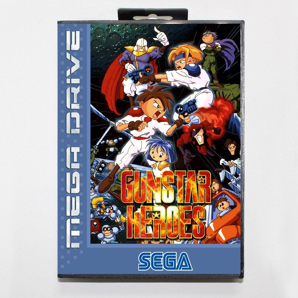 Gunstarheroes 2 16 bit SEGA MD Game Card With Retail Box For Sega Mega Drive For Genesis