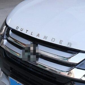 DIY Автомобиль 3D текст для Outlander из нержавеющей фиксированной буквы капюшон Эмблема Хром логотип значок наклейка для Mitsubishi Outlander