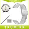 18mm 20mm 22mm 24mm venda de reloj para maurice lacroix obra maestra pontos milanese malla de acero inoxidable correa de muñeca pulsera de la correa