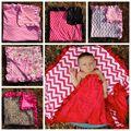 Impresión de Algodón de Verano recién nacido Mantas de Bebé Super Suave 80 cm X 80 cm Caramelo Color Prop ropa de Cama Cuna Para Dormir Ocasional Manta de abrigo