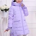 Jaqueta de inverno da menina para baixo Casacos 2016 NOVAS Crianças quentes do bebê jaqueta grossa Para Baixo pato Crianças Outerwears winter-30degree frio