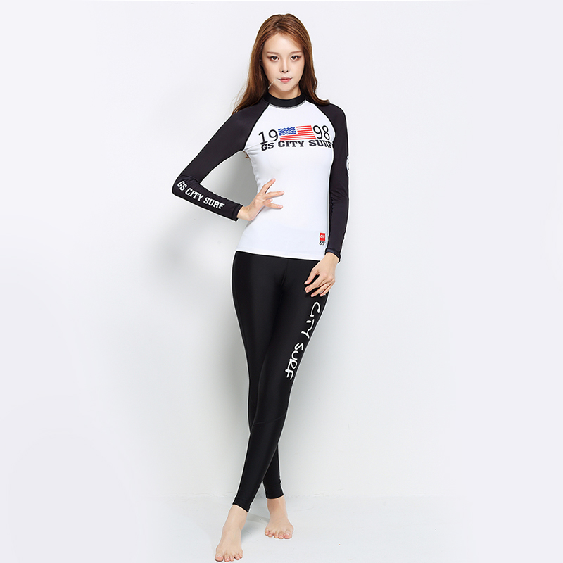 New Arrival Long Sleeve Women Scuba Diving Wetsuit  Surfing Snorkeling Swimwear Spearfishing Triathlon Print Swimsuit high quality cortex 3 5mm surf diving wet suits jacket men women surfing diving spearfishing wet suit long sleeve jacket wetsuit