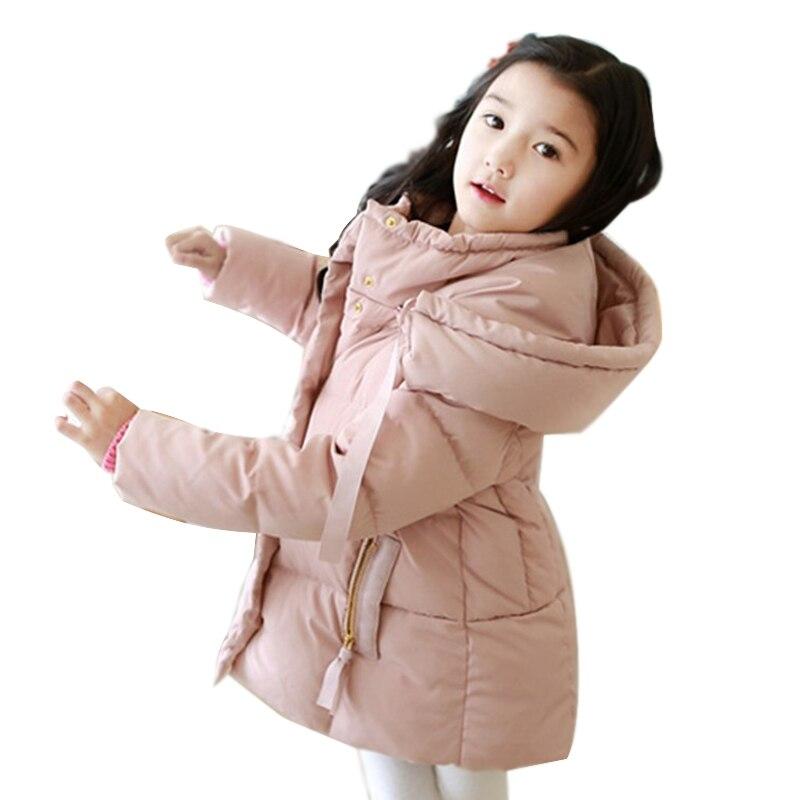 2018 Kalten Winter Warme 3-10 12 14 Jahre Teenager Baby Kind Weihnachten Geschenk Lange Verdicken Mantel Parkas Kinder Mädchen Ente Unten Jacke