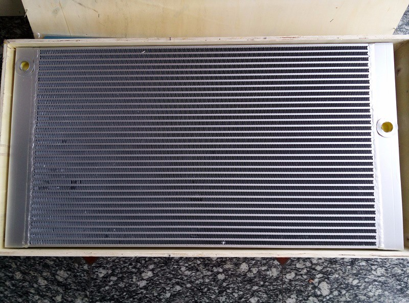 Bolaite black aluminum plate fin air cooler 1625165902 for GA55-90 Screw Air Compressor цена