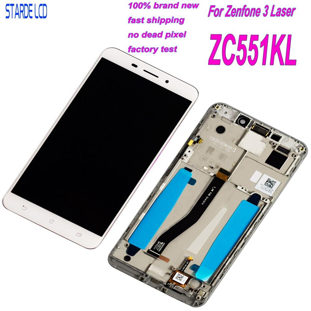 5.5 ''pour Asus ZenFone 3 Laser ZC551KL Z01BDC LCD écran tactile numériseur assemblée avec cadre Lcd remplacement avec outils