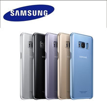 100% Original Genuine Samsung Galaxy s8 s8+ S8 Plus G950F G955 Clear Cover Protective Cover Case EF-QG955(China)