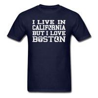 Live California Amour Boston Vêtements Hommes T-Shirt 2017 Marque T Shirt Hommes De Mode Classique de Coton Hommes Col Rond Court manches