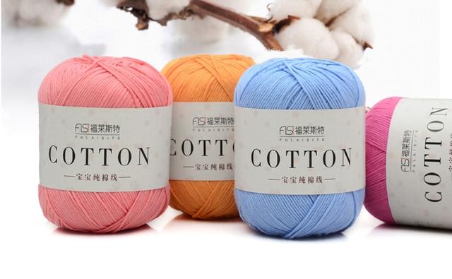 100% hilo de algodón para tejer hilo barato hilo para tejer bebé ...