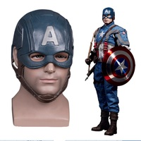 Captain America headgear Kigurumi Halloween Cosplay Masks Helmet Masquerade Props Latex Party Mask