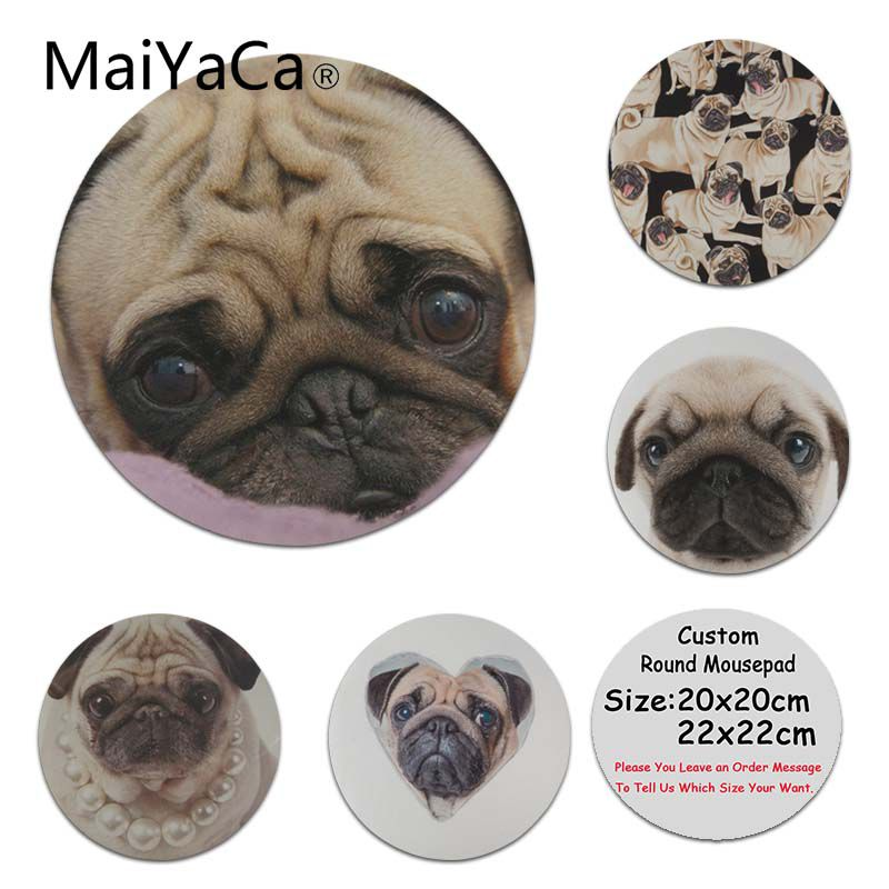 MaiYaCa Sales Anatomy of a Pug Customized MousePads Computer Laptop Anime Mouse Mat Size for 20x20cm 22x22cm Rubber Mousemats