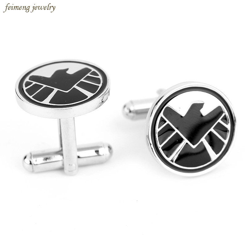 S.H.I.E.L.D Agents Of SHIELD Movie Fashion Enamel Cufflinks For Mens Brand Cuff Buttons High Quality Abotoaduras Cuff Links Hot