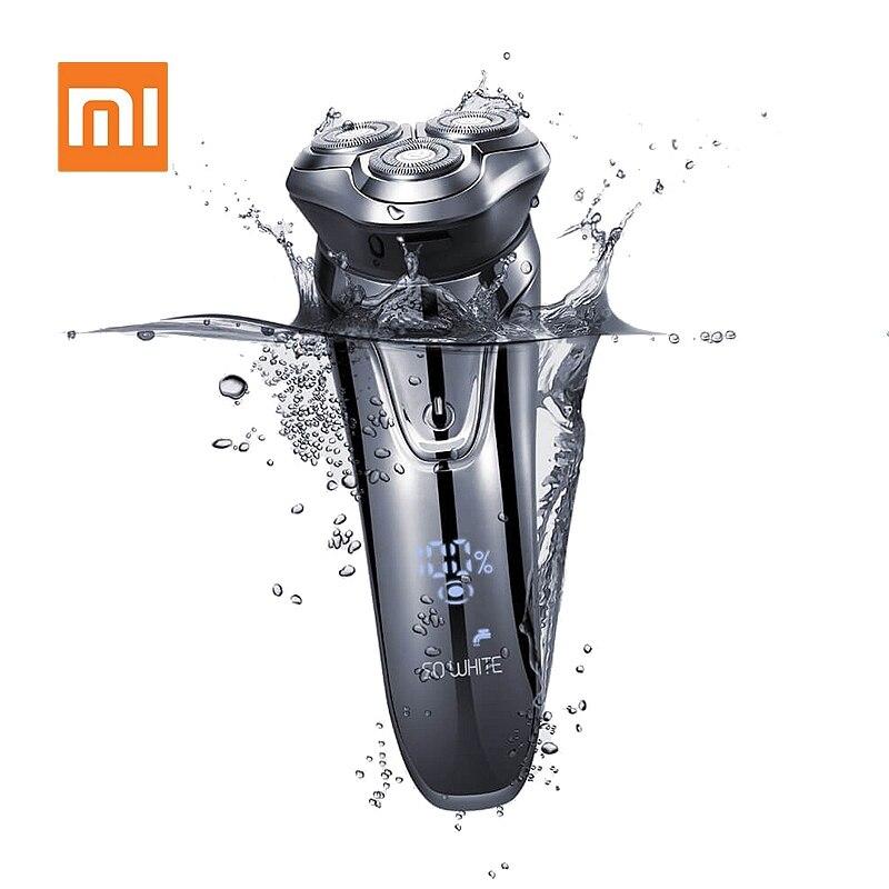 XIAOMI SO WHITE Men Washable USB Rechargeable Electric Shaver Wireless Smart Control Razor IPX7 Waterproof Shaving Beard Machine