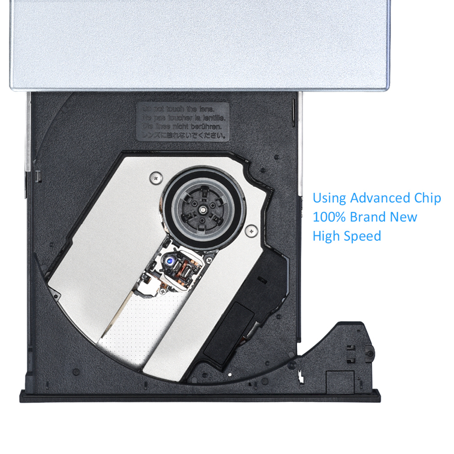 VICTSING USB 2.0 high speed External Drive DVD-R Combo CD Burner Optical Drive CD-RW DVD ROM for Windows 2000/XP/Vista/7, MAC OS
