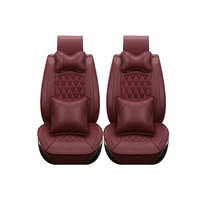 Special leather only 2 front car seat covers For Fiat All Models Ottimo 500 Panda Punto Linea Sedici Viaggio Bravo Freemont