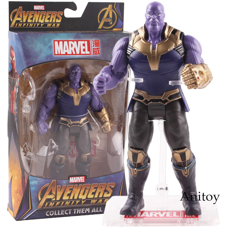 Avengers 3 Infinity War Thanos Figure PVC Action Figure Marvel Thanos Collectible Model Toy 16.5cm