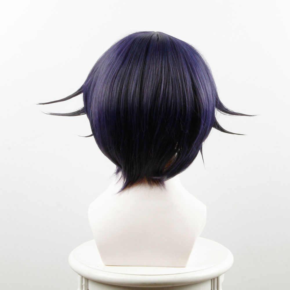 Vocaloid Kagamine Len สั้นสีบลอนด์ความร้อนผมคอสเพลย์วิกผม + Track + หมวกวิกผม